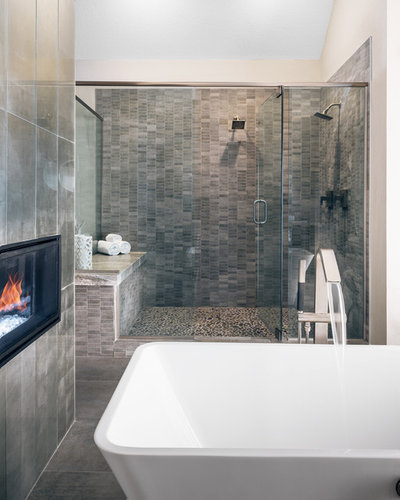Modern Bathroom by Amy Hilliker Certified Designer-The Design Project