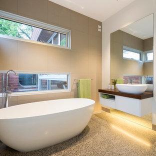 concrete bathroom floors | houzz