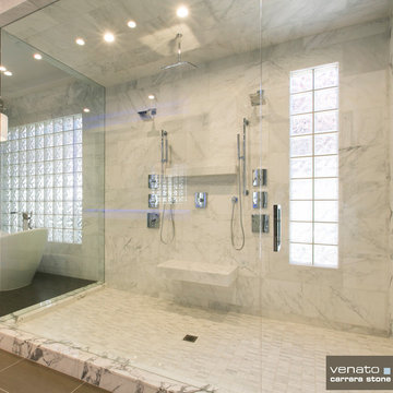 Carrara (Carrera) Marble Bathroom Tile