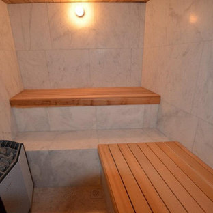 Carrara Grey Marble Sauna