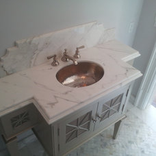 Traditional Bathroom by La Pietra Marble, Inc.