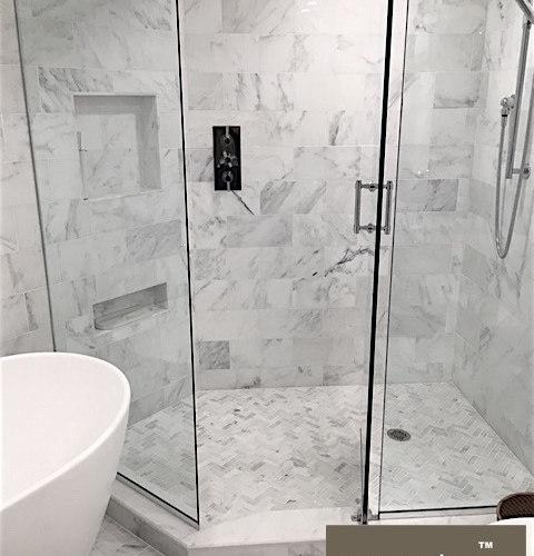 Carrara venato marble tile for Bathrooms b q installation
