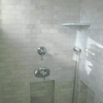 Carrara Marble Tile Shower