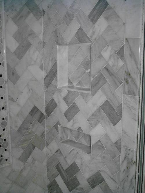 Example of a classic bathroom design in JacksonvilleCarrera Marble Bathroom   Houzz. Black And White Marble Bathrooms. Home Design Ideas