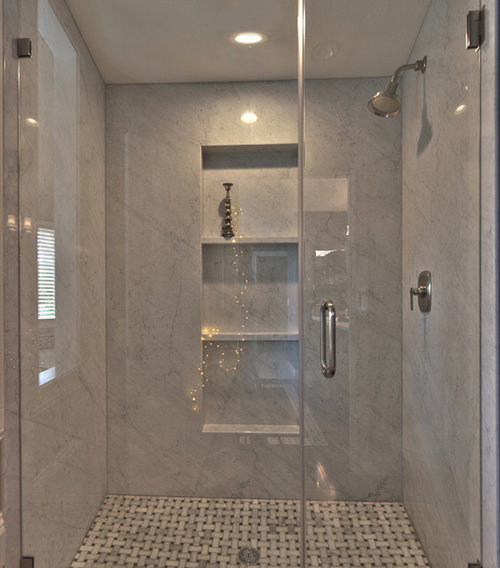 Carrera Marble Shower Home Design Ideas Pictures Remodel