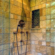 Farmhouse Bathroom by Michael Willoughby & Associates - Architects