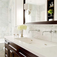Traditional Bathroom by Stephani Buchman Photography