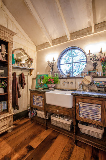 Rustic Bathroom by Key Residential