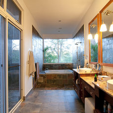 Transitional Bathroom by Louise Lakier