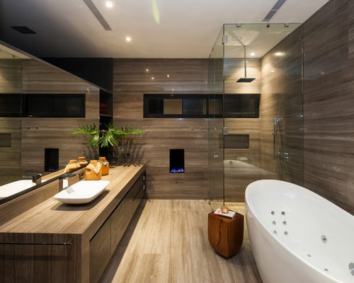 Brown Bathroom Ideas jetted tub | houzz