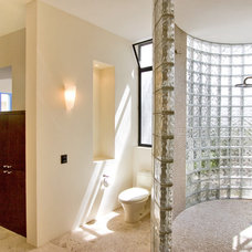 mediterranean bathroom by House + House Architects