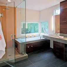 Modern Bathroom by BARRETT STUDIO architects