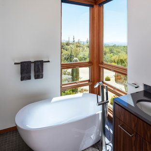 Inspiration for a mid-sized southwestern master bathroom remodel in Seattle