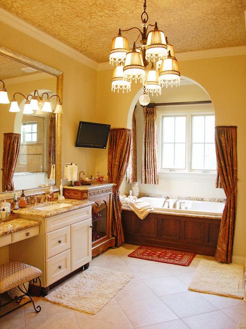 Mediterranean bathroom design ideas renovations photos - Bathrooms with yellow walls ...