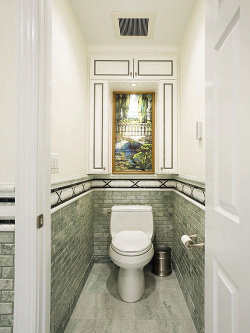 Toilet room houzz for Small toilet room ideas