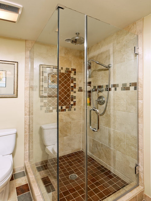Eclectic Bathroom Design Ideas Renovations Photos With Beige Tile