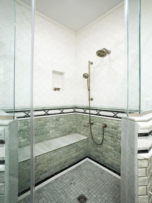 Shower tile configuration home design ideas pictures for Bathroom configurations