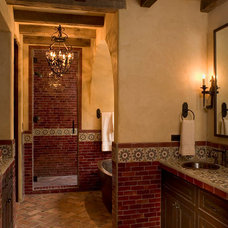 Mediterranean Bathroom by Rachel Mast Design
