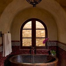Mediterranean Bathroom by Rachel Mast Design