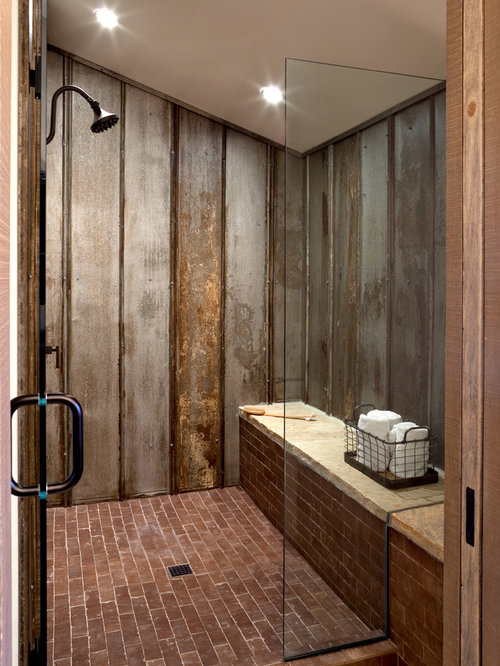 bathroom design ideas renovations photos with brick