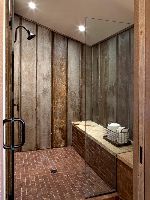 offene dusche größe: badezimmer mit kiesel bodenfliesen und, Hause ideen
