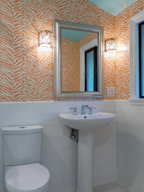 Landhausstil badezimmer mit oranger wandfarbe design - Landhausstil wandfarbe ...