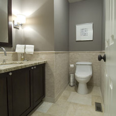 transitional bathroom by BiglarKinyan Design Planning Inc.