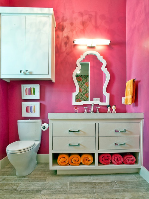 Bathroom Towel Storage Houzz - Pink towels for small bathroom ideas