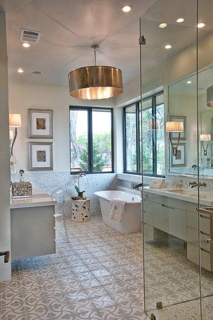 Transitional Bathroom by Greenbelt Construction