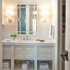 Transitional Bathroom by Greenbelt Construction