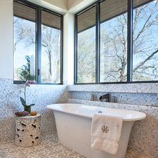 Transitional Bathroom by Cornerstone Architects