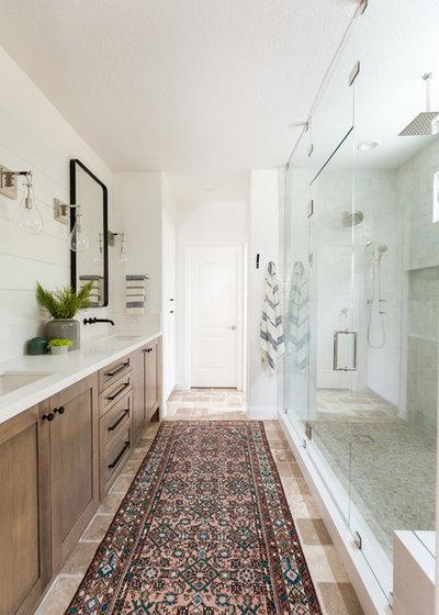 Farmhouse Bathroom by Jula Cole Design