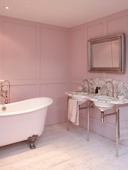 Foto e idee per bagni bagno in campagna rosa for Bagno di campagna francese