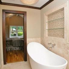 Traditional Bathroom by LPK Creations