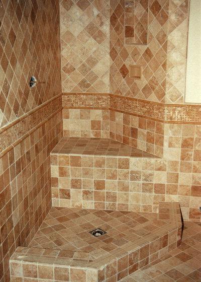 Vintage Mediterranean Bathroom by Republic Tile Works LLC