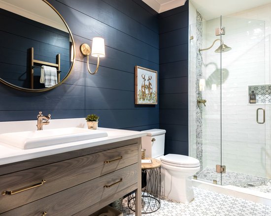 bathroom design ideas, remodels & photos with white tile