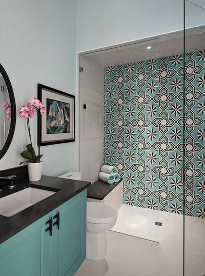 Transitional Bathroom by Jinx McDonald Interior Designs