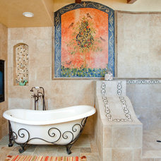 Mediterranean Bathroom by Mark Sullivan Fine Custom Homes Inc.