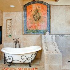 Mediterranean Bathroom by Mark Sullivan Fine Custom Homes Inc.