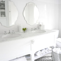 eclectic bathroom by CCG Interiors, LLC.