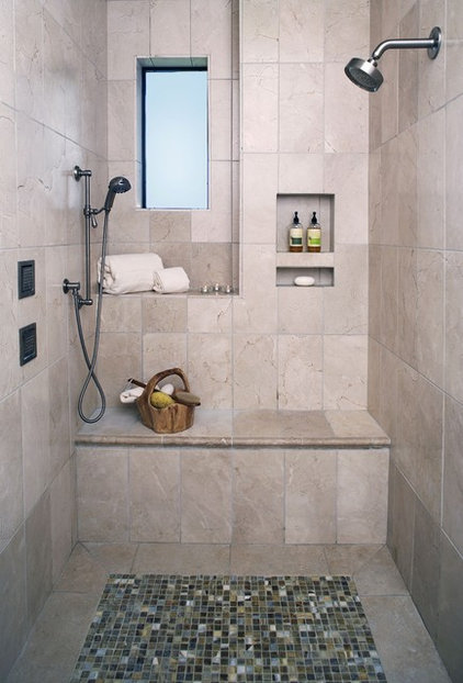 mediterranean bathroom by Catherine Dolen & Associates