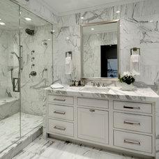 Transitional Bathroom by Dresner Design | Chicago Custom Kitchens Cabinets