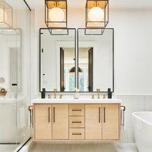 Bathrooms under 90 square feet