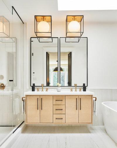 Scandinavian Bathroom by Two Fold Interiors