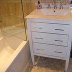 Powder Bath Vanity Contemporary Powder Room Salt