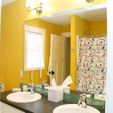 Eclectic Bathroom by Green Apple Design