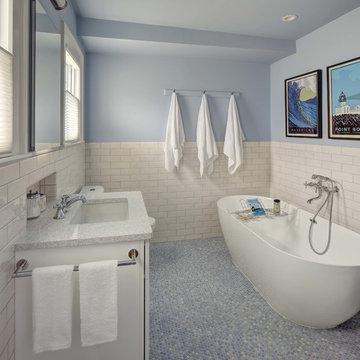 Celestial Blue Ensuite Master Bath
