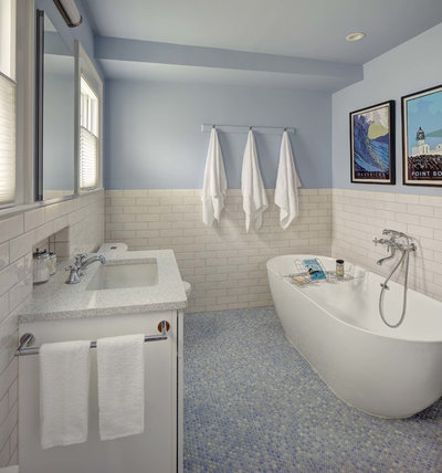 Transitional Bathroom by Tracey Stephens Interior Design Inc