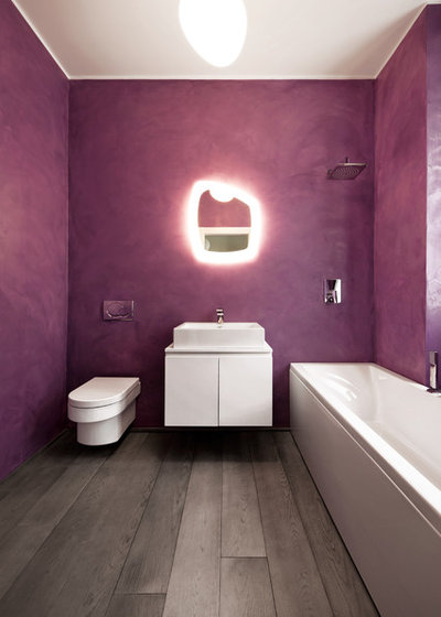 Bagni in resina per un bagno senza piastrelle - Smalto per pareti bagno ...