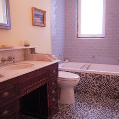 traditional bathroom by Avente Tile